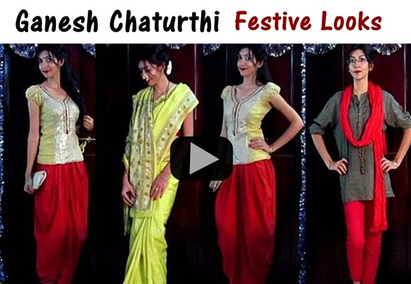 c33d6d1531 Ganesh Chaturthi - Outfit Ideas, Makeup, Hair   Indian Youtuber