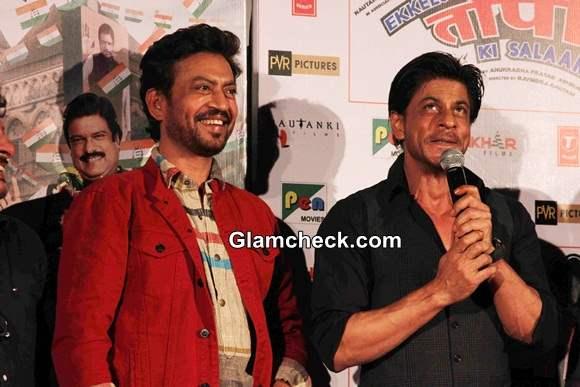 Irrfan Khan and Shahrukh Khan