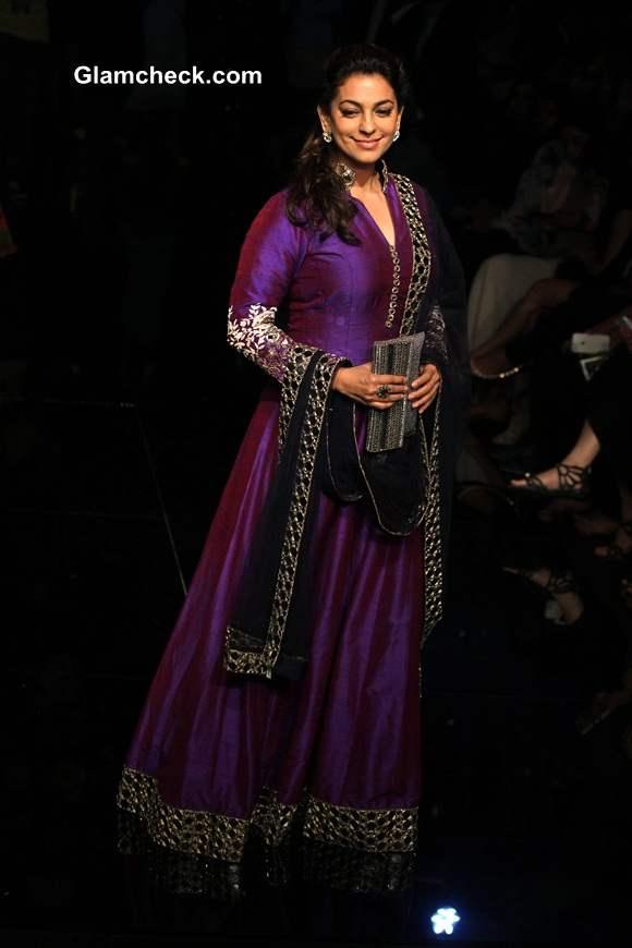 Juhi Chawla at Lakme Fashion Week 2014 Winter Festive Grand Finale