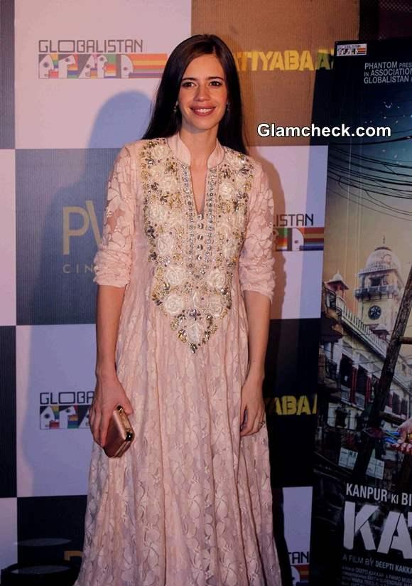 Kalki Koechlin 2014 in Anarkali Suit at Katiyabaaz Screening