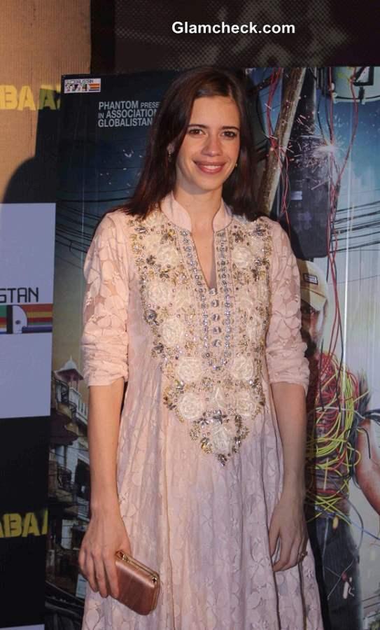 Kalki Koechlin in Anarkali Suit at Katiyabaaz Screening
