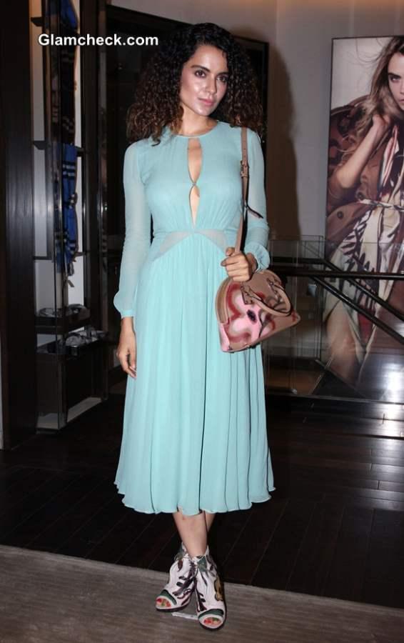 Kangana Ranaut 2014 in Blue Dress