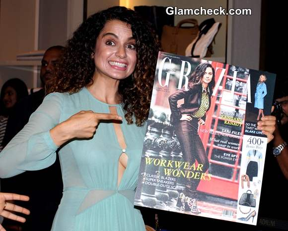 Kangana Ranaut at the unveiling of the Grazia Cover August 2014 Issue
