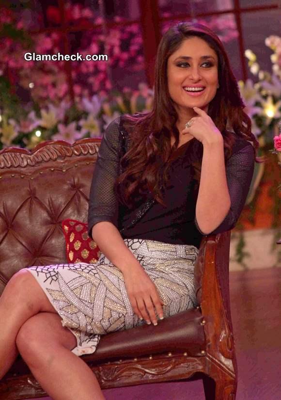 Kareena Kapoor 2014 on the sets of Comedy Nights with Kapil