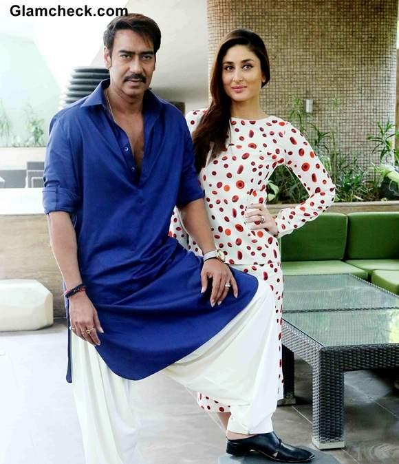 Kareena Kapoor and Ajay Devgan at Singham Returns New Delhi Promo