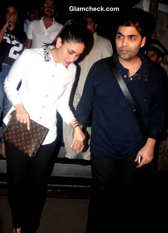 Kareena Kapoor with filmmaker Karan Johar
