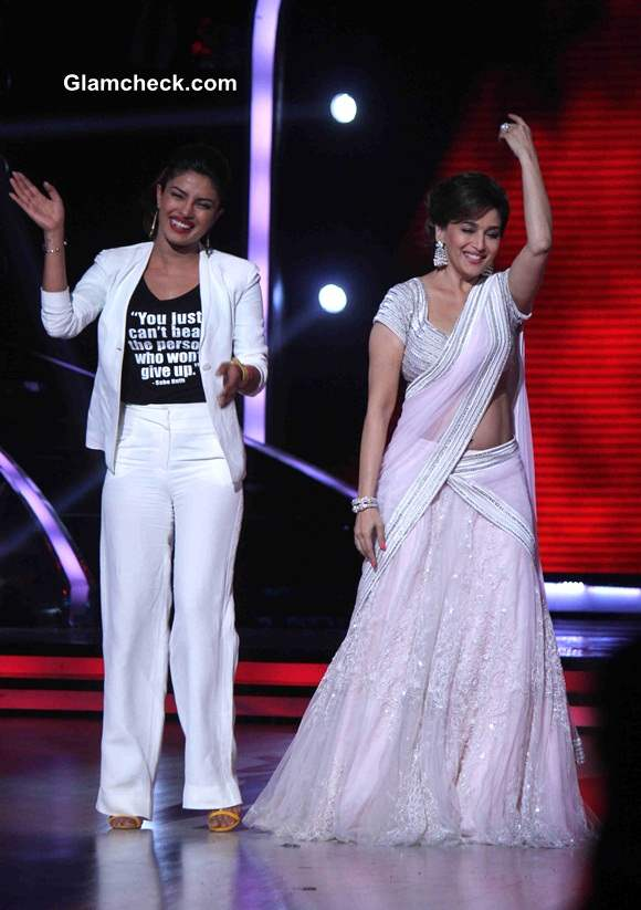 Madhuri Dixit and Priyanka Chopra on Jhalak Dikhlaa Jaa 7