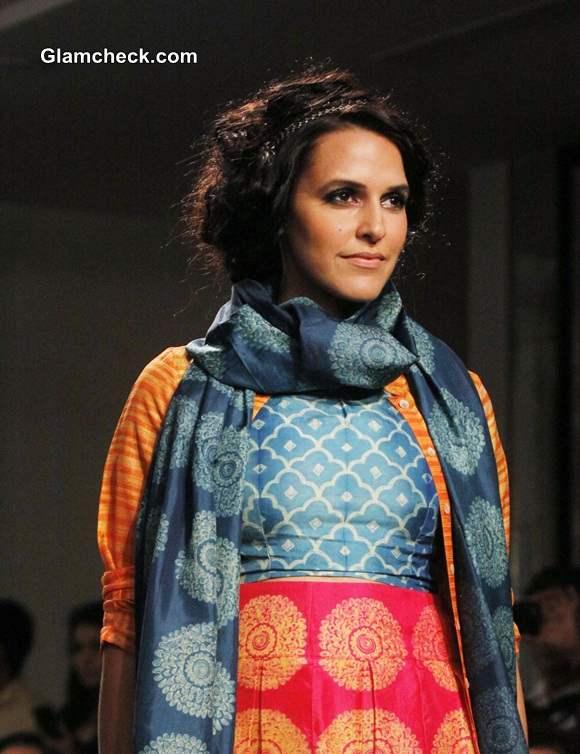 Neha Dhupia at LFW Winter-Festive 2014