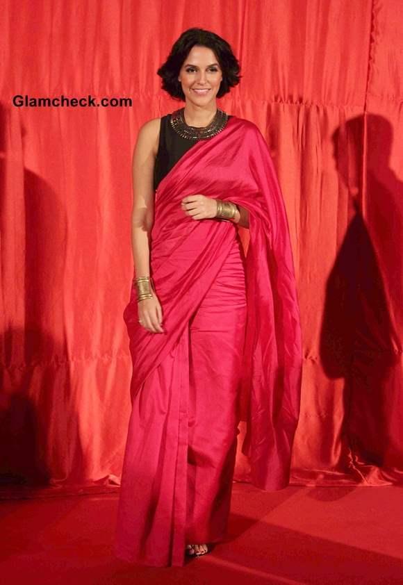 Neha Dhupia at Trailer Launch of Ekkees Toppon Ki Salaami
