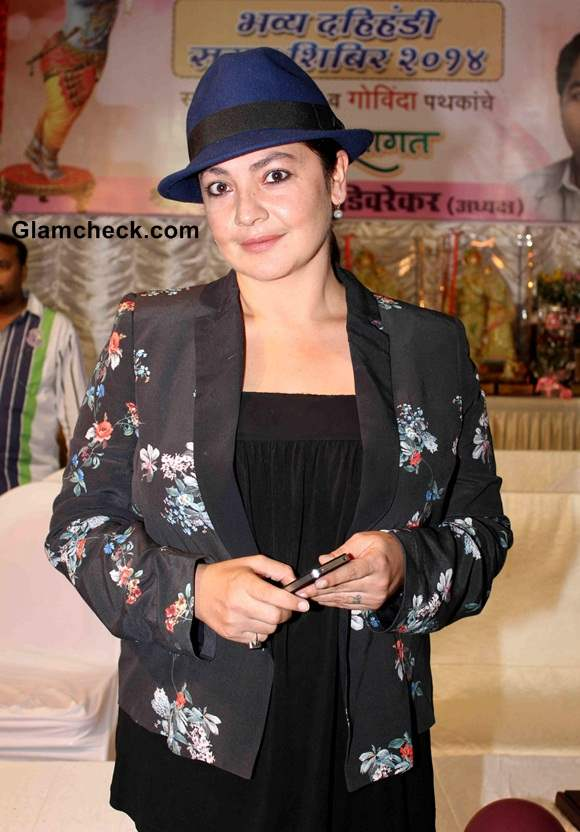 Pooja Bhatt Sports Mango Blazer at Dahi Handi Celebrations