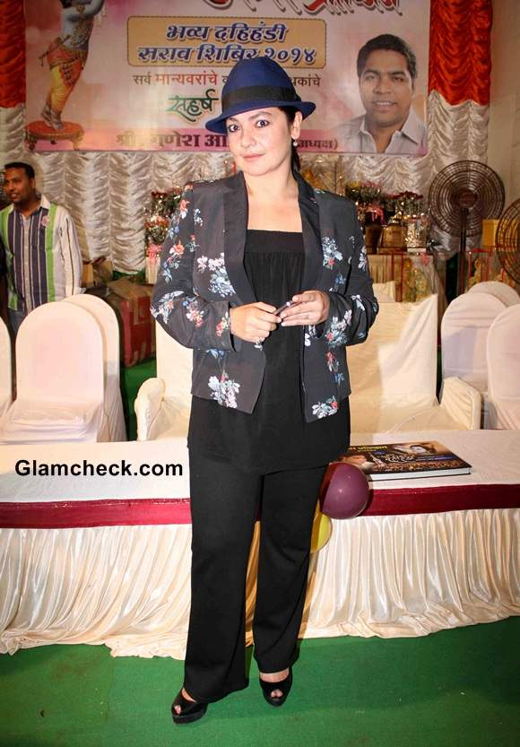 Pooja Bhatt Sports Mango Jacket at Dahi Handi Celebrations