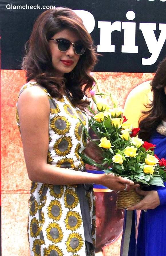 Priyanka Chopra 2014 during Mary Kom Promotions