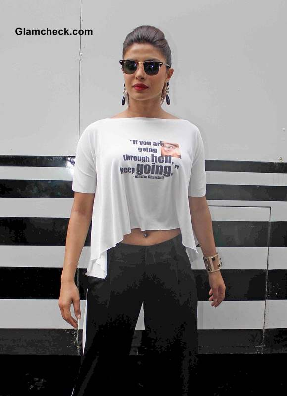 Priyanka Chopra Crop Top 2014 style