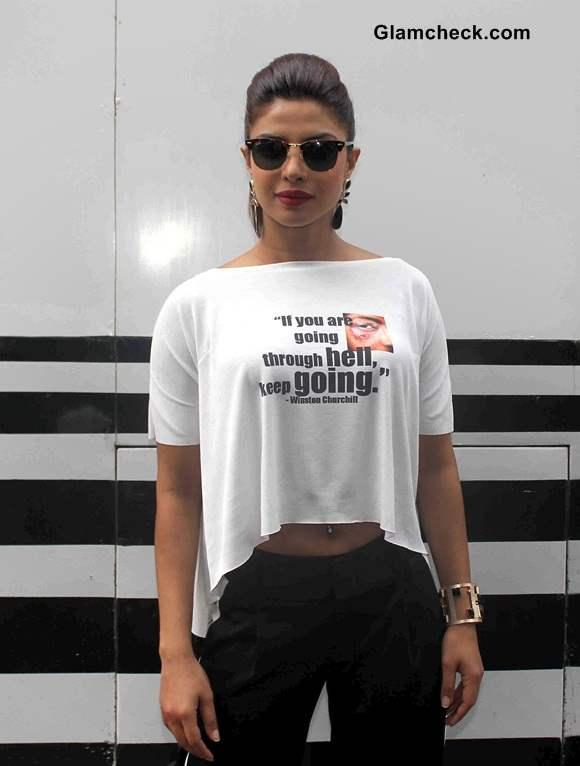 Priyanka Chopra Crop Top Look