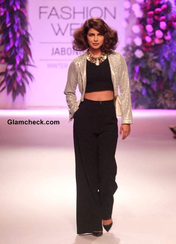 Priyanka Chopra Grand Finale of LFW Winter Festive 2014