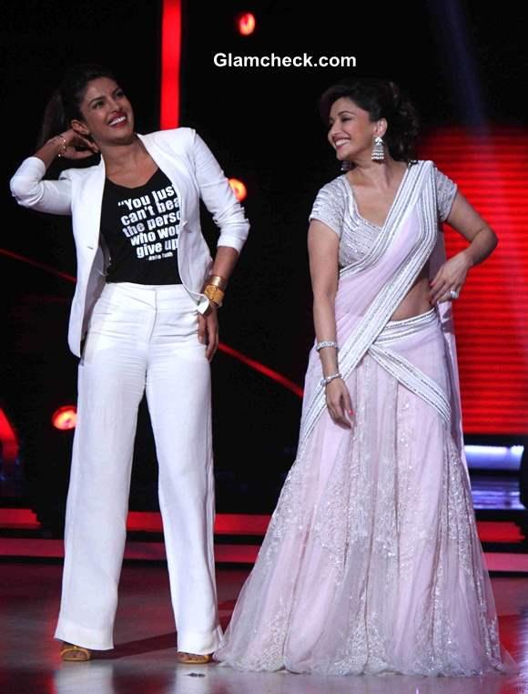 Priyanka Chopra and Madhuri Dixit on Jhalak Dikhlaa Jaa 7
