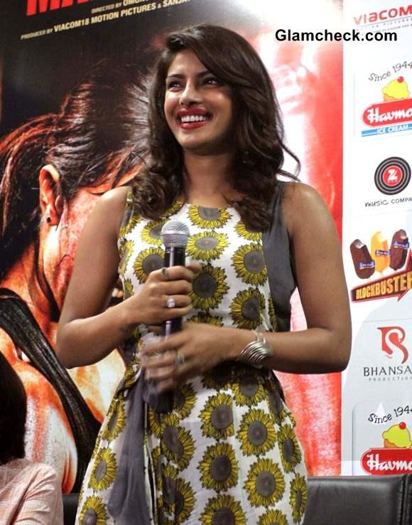 Priyanka Chopra during Mary Kom Promotions at IIM Ahmedabad