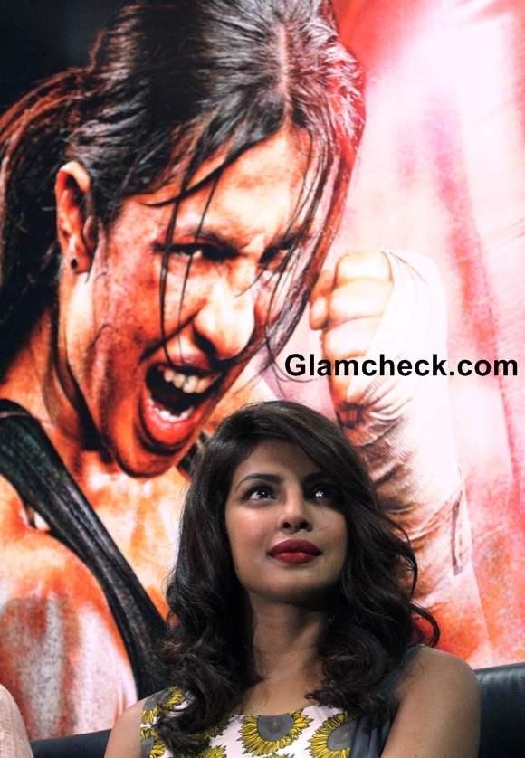 Priyanka Chopra during Mary Kom Promotions