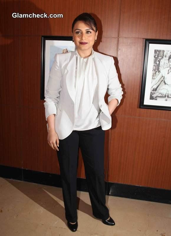 Rani Mukerji Suits Up for Mardaani Song Launch