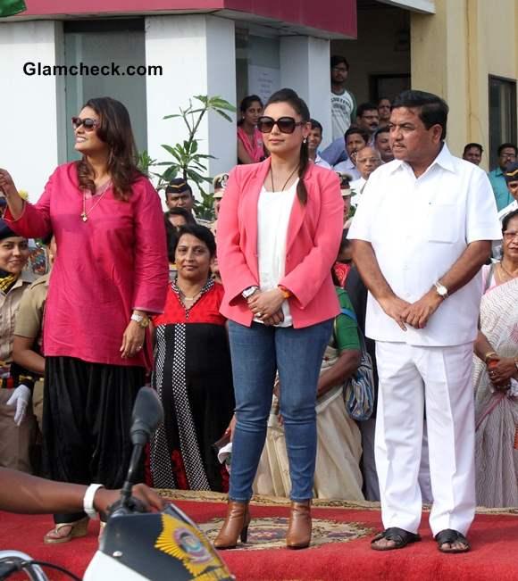 Rani Mukherji Supports Women Beat Marshalls 2014