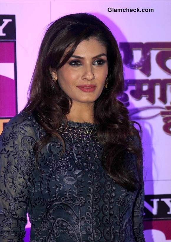 Raveena Tandon 2014 in Anarkali suit at Yeh Pal Hamara Hai launch