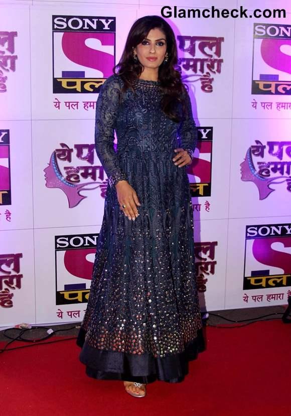Raveena Tandon in Anarkali suit at Yeh Pal Hamara Hai launch