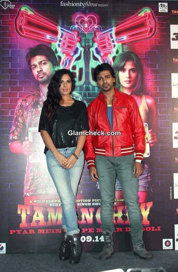 Richa Chadda Nikhil Dwivedi Launch Tamanchey Trailer