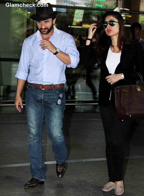 Saif and Kareena Fly Back from London