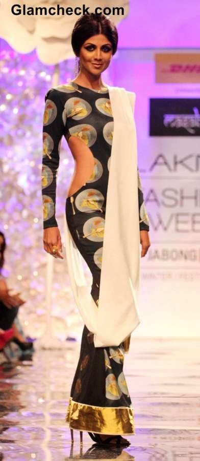 Shilpa Shetty for Masaba Gupta at Lakme Fashion Week Winter-Festive 2014