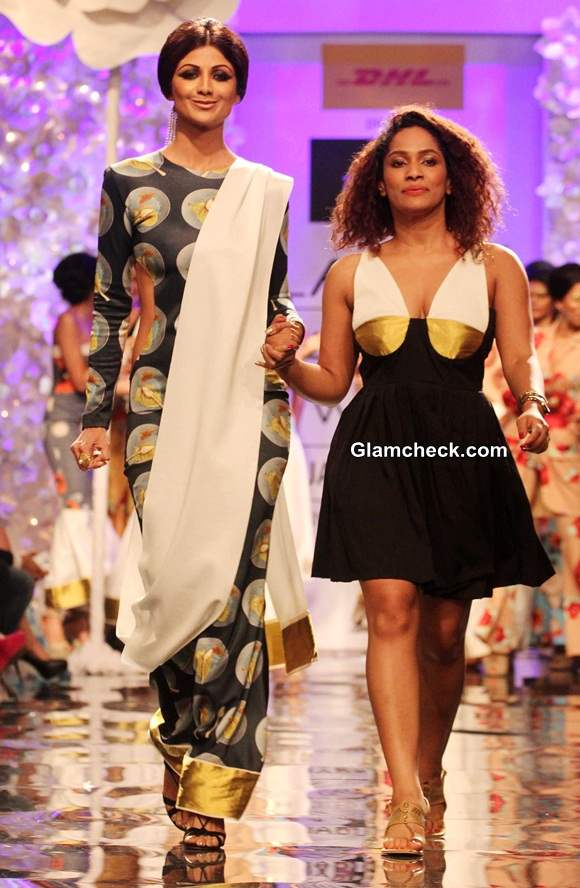Shilpa Shetty for Masaba at Lakme Fashion Week Winter-Festive 2014