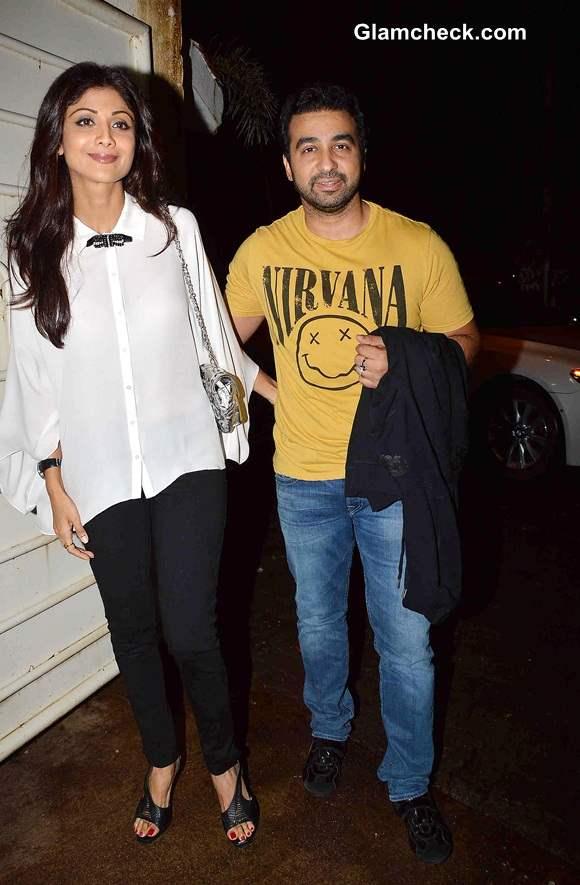 Shilpa Shetty with husband Raj Kundra pics
