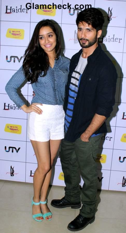 Shraddha Kapoor and Shahid Kapoor at the music premier Haider