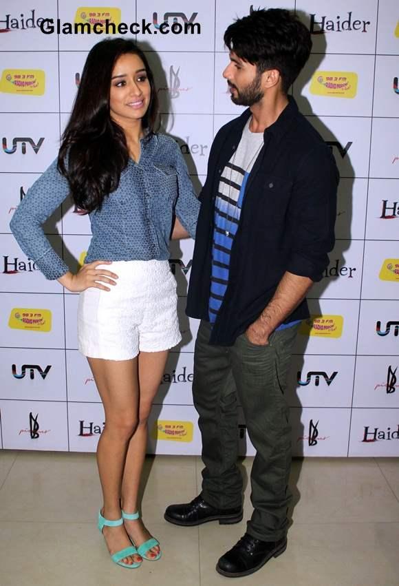 Shraddha Kapoor and Shahid Kapoor during the music premier Haider