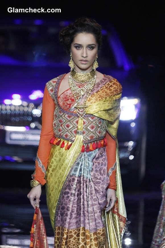 Shraddha Kapoor for J J Valaya at India Bridal Fashion Week 2014