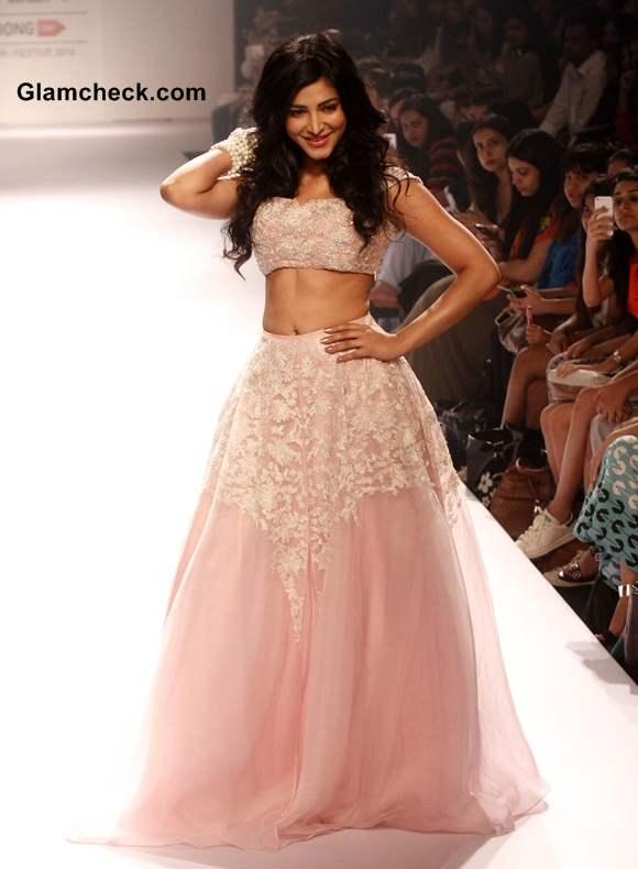 Shruti Haasan for Shehla Khan at LFW Winter Festive 2014