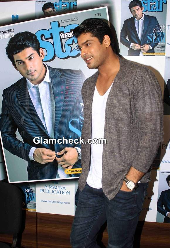 Sidharth Shukla  2014 On the Cover of Star Week Magazine