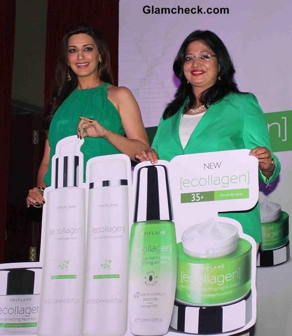Sonali Bendre Launches Oriflame's Ecollagen Range