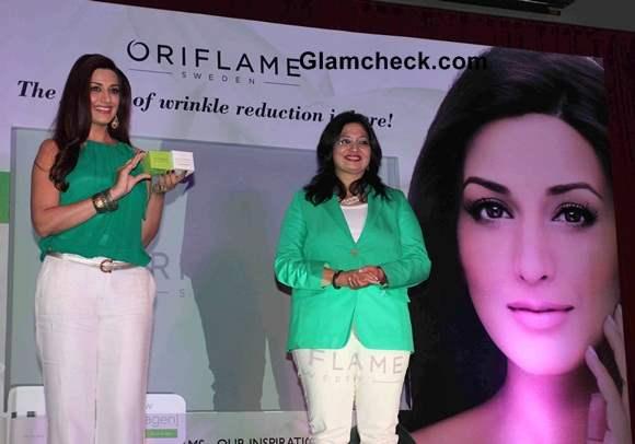 Sonali Bendre at Oriflame's Ecollagen Range Launch