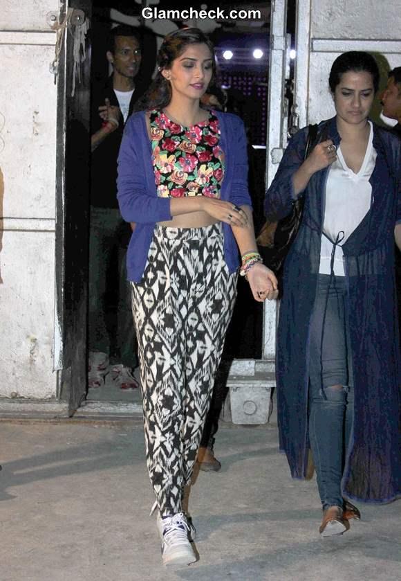 Sonam Kapoor during a song shoot for film Khoobsurat