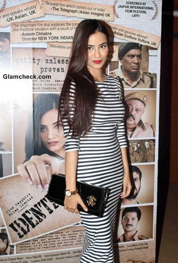 Tia Bajpai at the screening of the film Identity Card