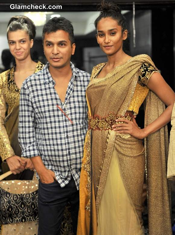 Vikram Phadnis during the fittings for the Lakme Fashion Week 2014