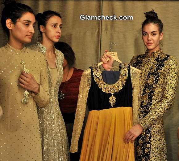 Vikram Phadnis fittings for the Lakme Fashion Week 2014