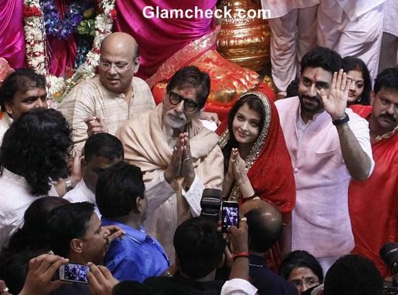 Bachchan Family at Lalbaugcha Raja 2014