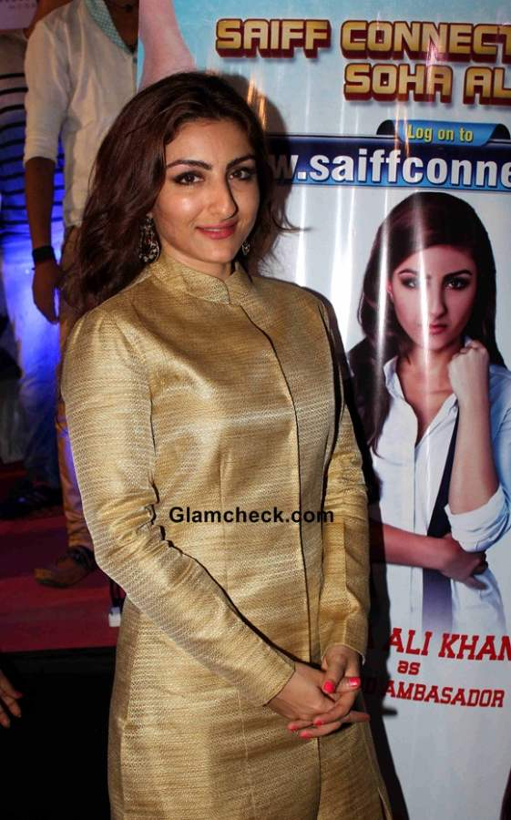 Celeb Style check - Soha Ali Khan during the launch of portal Saiffconnect