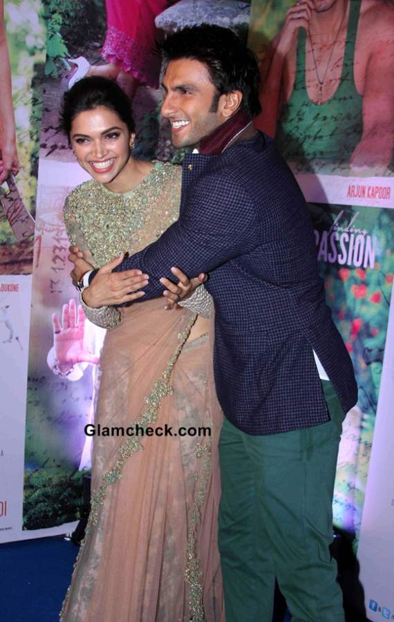 Deepika and Ranveer Singh at the success party of film Finding Fanny