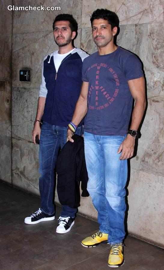Farhan Akhtar and filmmaker Ritesh Sidhwani