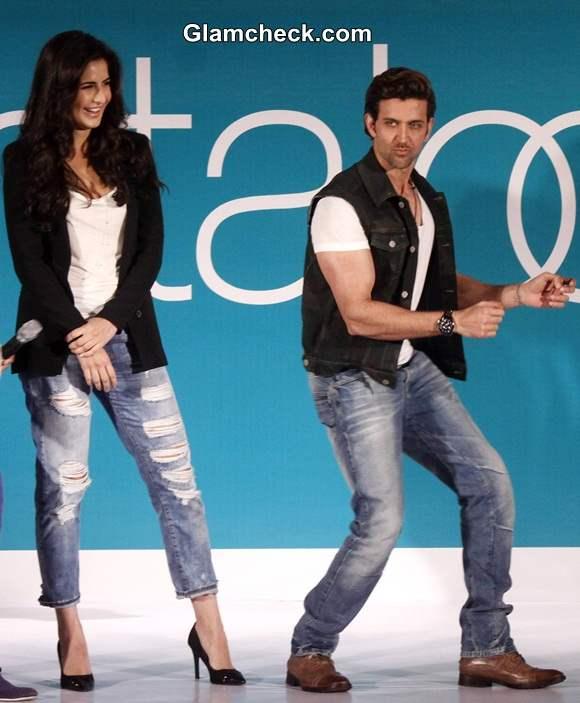 Hrithik and Katrina at Pantaloons Limited Edition Collection show