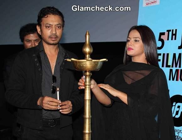 Irrfan Khan Neetu Chandra at the opening of 5th Jagran Film Festival