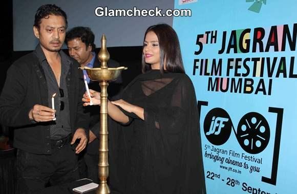 Irrfan Khan and Neetu Chandra at the opening of 5th Jagran Film Festival