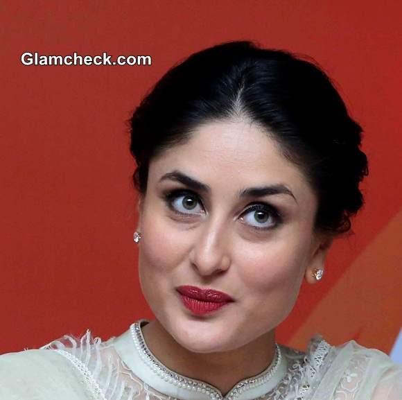 Kareena Kapoor 2014 Makeup maroon lipstick